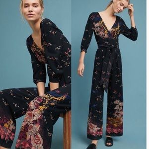 Anthropologie Nara Floral Jumpsuit by Feather Bone